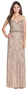 Adrianna Papell Beaded Crisscross Strap Dress