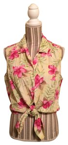 Bill Blass Button Down Shirt Pink Floral
