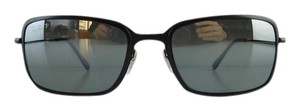 Ray-Ban New Ray-Ban Sunglasses RB 3514-M 153/82 Matte Black Metal Full-Frame Polarized Mirror 56mm Made in Italy