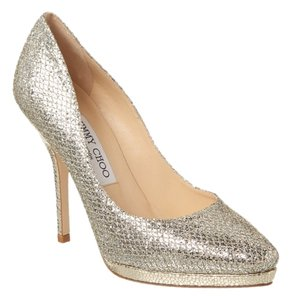 Jimmy Choo Heels Glitter Luxury New In Box Champagne glitter Pumps