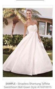 Galina Strapless Ball Gown With Ruched Bodice Wedding Dress