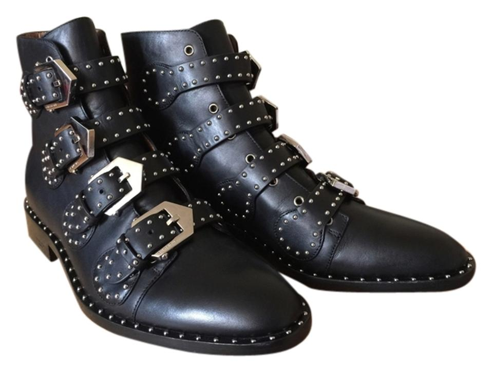 1663e233d91 Givenchy Black Studded Buckle Ankle Boots/Booties Size US 8 Regular (M, B)  70% off retail