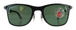Ray-Ban New Ray-Ban Sunglasses RB 3521-M 006/9A Matte Black Metal Full-Frame Polarized Mirror 50mm Made in Italy