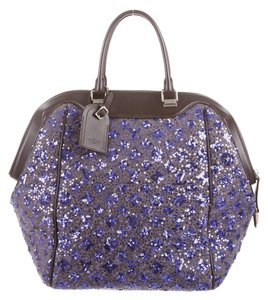 Louis Vuitton North South Sequin Wool Satchel in Purple Sunshine Express