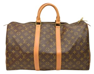 Louis Vuitton Keepall 45 Monogram Canvas Travel Bag
