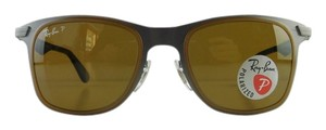 Ray-Ban New Ray-Ban Sunglasses RB 3521-M 029/83 Matte Brown Metal Full-Frame Polarized Brown 50mm Made in Italy