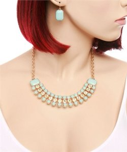 none Statement Necklace And Earring