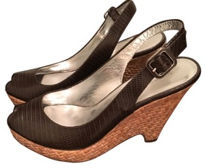 Banana Republic Wedge Platform Brown Platforms