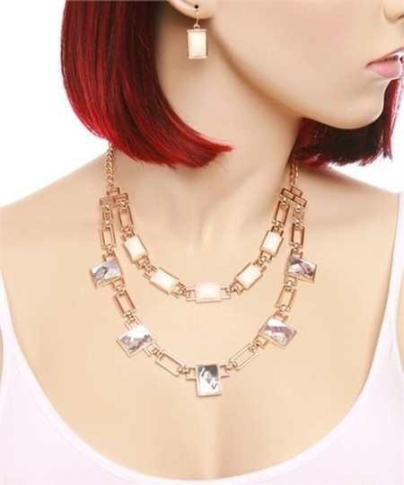 none Statement Necklace Earring Set