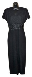 Maggy London Evening Short Sleeve Lace Polyester Dress