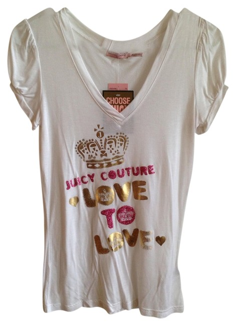 Preload https://img-static.tradesy.com/item/1496938/juicy-couture-white-sheer-graphic-glitter-tee-shirt-size-4-s-0-0-650-650.jpg