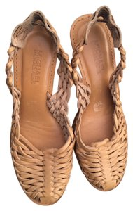 Michael Kors Leather Bohemian Tan Wedges