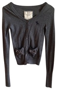 Abercrombie & Fitch Bows Cardigan Buttons Suede Sweater