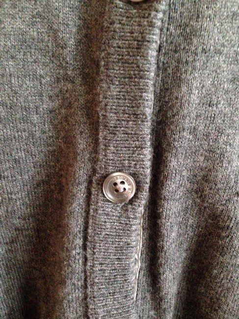 Abercrombie & Fitch Bows Cardigan Buttons Suede Wool Sweater Image 4