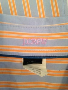 J.Crew Button Down Shirt Blue & Orange