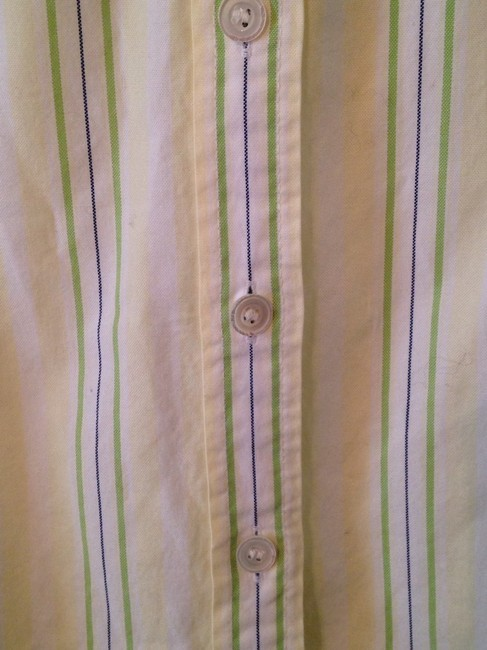 J.Crew Button Down Shirt Yellow & Green