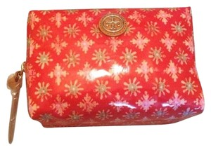 Tory Burch Makeup Case Poppy Red Multi Layton Brigitte