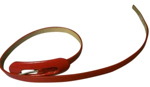 hyde collection red patent leather belt by Hyde Collection