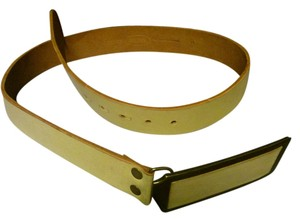 Brave Soul new creme leather belt by Brave Beltworks