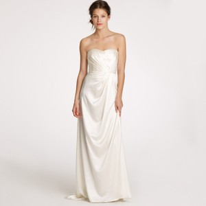 J.Crew Ivory Silk Satin Lorabelle Feminine Wedding Dress Size 10 (M)