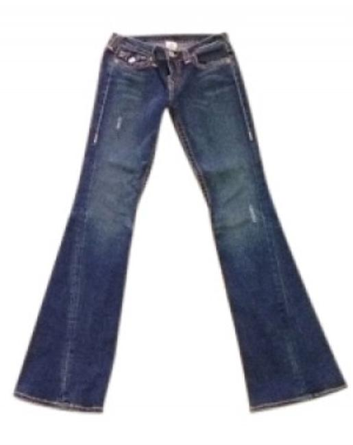 Preload https://item3.tradesy.com/images/true-religion-dark-blue-rinse-becky-heritage-flare-leg-jeans-size-29-6-m-14972-0-0.jpg?width=400&height=650
