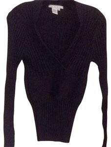 CAbi Deep V-neck Ribbed Sweater