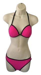 New Hot Pink and black 2 piece bikini