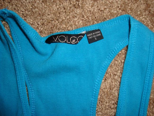 Volcom Top Teal and Brown Image 1
