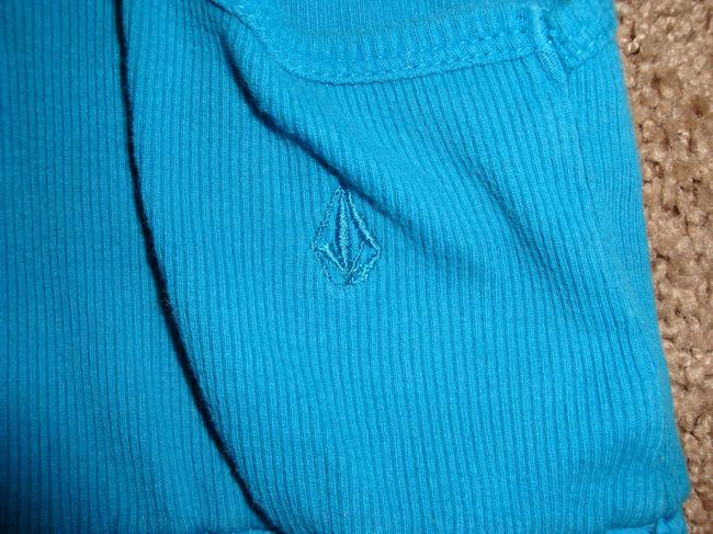 Volcom Top Teal and Brown Image 4