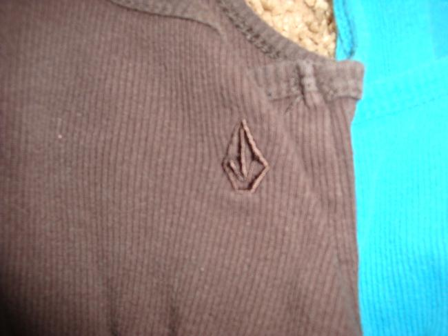 Volcom Top Teal and Brown Image 5