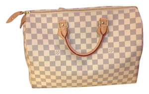 Louis Vuitton Satchel in Light Beige/ Gray