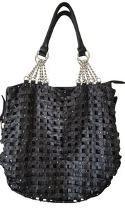 Black Large Chains Shoulder Bag