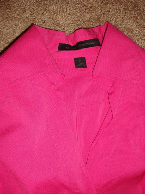 Express Button Down Shirt Black, White, and Pink Image 2