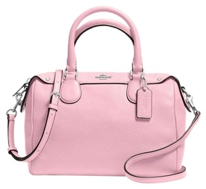 Coach Leather Pebble Minibennett Satchel in Petal Pink