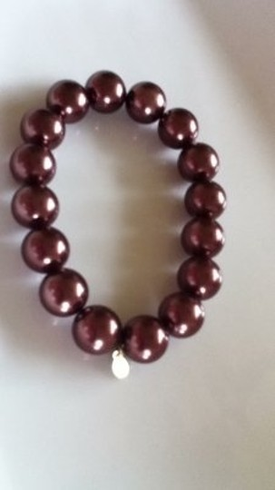 rmn Brown Pearl Bracelet Nice Quality Costume Elastic stretchy