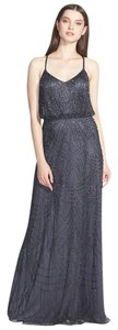 Adrianna Papell Beaded Crisscross Strap Evening Bridesmaid Dress