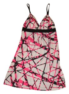 FMF short dress Black, White, Pink on Tradesy