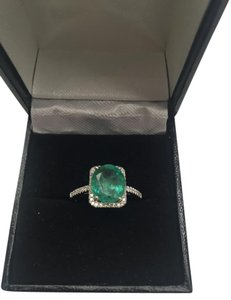 2.74CT NATURAL UNTREATED EMERALD&DIAMOND 10K GOLD RING