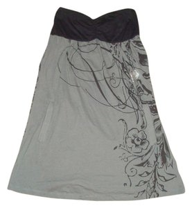 Fox short dress Black and Grey on Tradesy