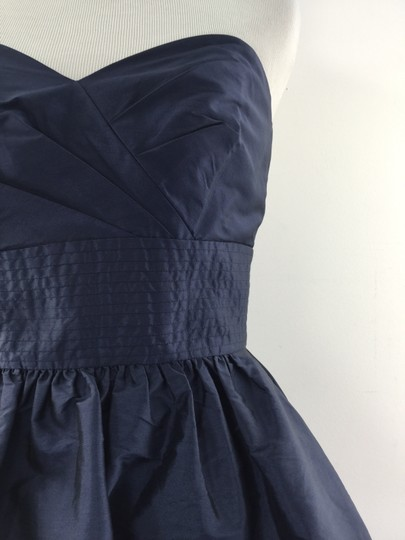 Alfred Sung Midnight Blue Strapless Formal Bridesmaid/Mob Dress Size 2 (XS)