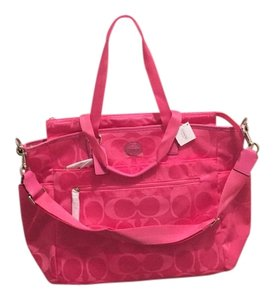 Coach Hot Pink Diaper Bag