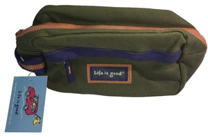Life is Good New Toiletries Cosmetic Toiletries Christmas Green Travel Bag