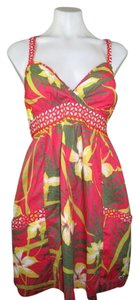 Hollister short dress Red Floral on Tradesy