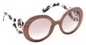 Prada Prada Sunglasses SPR27r Raw Wood Baroque Sunglasses