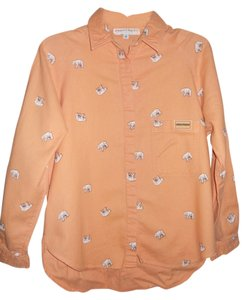 Together Casual Button Down Shirt Peach