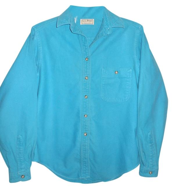 L.L.Bean Casual Button Down Shirt Teal