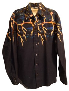 Wrangler Western Button Down Shirt Navy