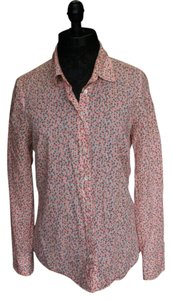 J.Crew Button Down Shirt Floral Coral Combo
