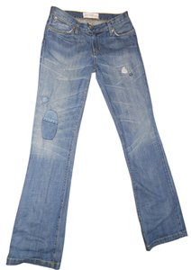 Paper Denim & Cloth Cotton Boot Cut Jeans-Distressed