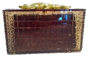 Charlotte Olympia Brown Clutch